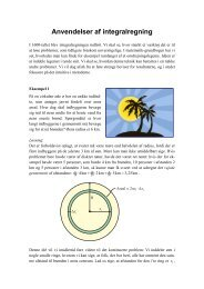 Anvendelser af integralregning - Vestergaards Matematik Sider