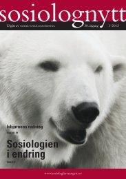 Sosiolognytt nr. 1 2013 - Sosiologen