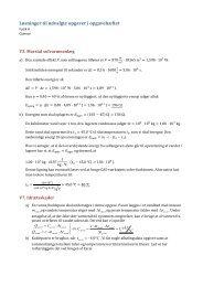 Løsninger til udvalgte opgaver i opgavehæftet - Fysik A