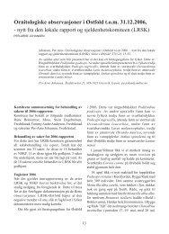 Ornitologiske observasjoner i Østfold t.o.m. 31.12.2006, - nytt fra den ...