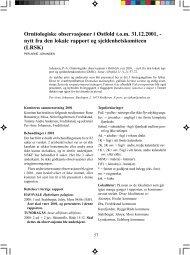 Ornitologiske observasjoner i Østfold t.o.m. 31.12.2001, - nytt fra den ...