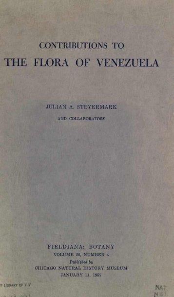 THE FLORA OF VENEZUELA