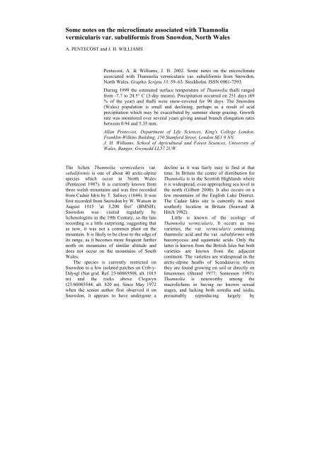 Biatora aegrefaciens – återfunnen efter 119 år