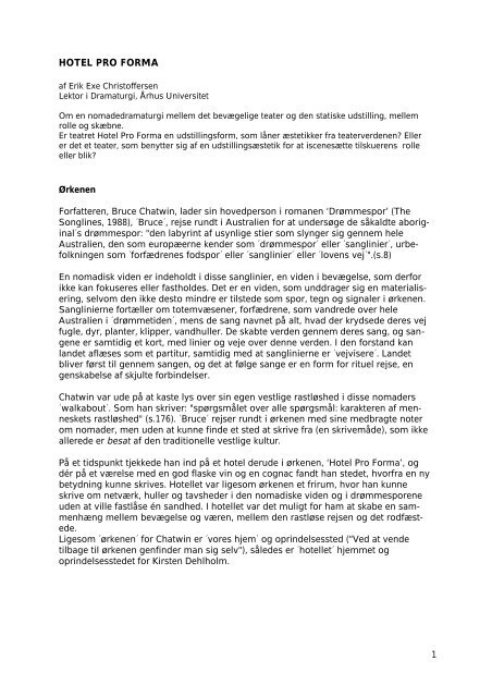 8 pages, pdf-file (26k) - Hotel Pro Forma