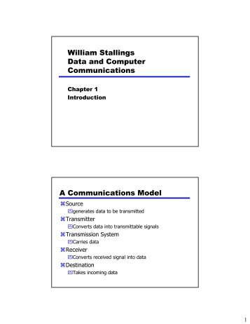 William Stallings Data and Computer Communications A ...