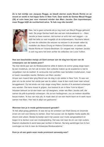 een artikel - Nieuwen Bosch