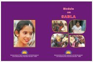 Sabla training module - Ministry of Women and Child Development