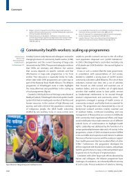Community health-workers: scaling up programmes - Nipccd