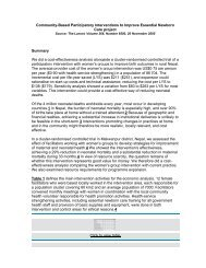 Community-Based Participatory Interventions to Improve ... - Nipccd