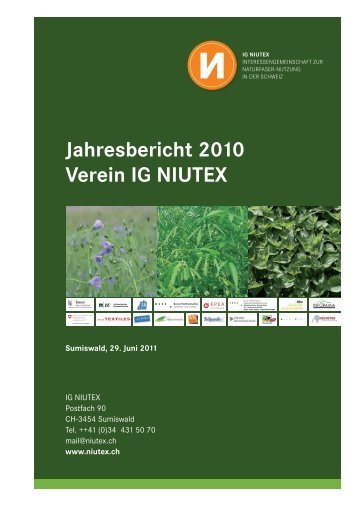 Jahresbericht 2010 Verein IG NIUTEX - NIUTEX 2010