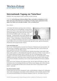 Internationale Tagung zur Naturfaser - NIUTEX 2010