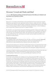 Ein neuer Versuch mit Flachs und Hanf, Berner ... - NIUTEX 2010