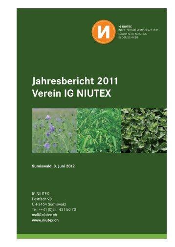 Jahresbericht 2011 Verein IG NIUTEX - NIUTEX 2010