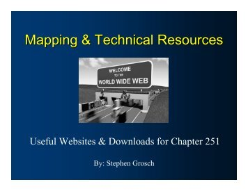 Mapping & Technical Resources