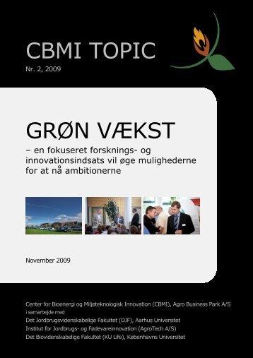 CBMI TOPIC GRØN VÆKST - Innovationsnetværket for Biomasse