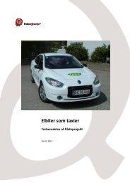 Elbiler som taxi Elbiler som taxier - Ea Energianalyse