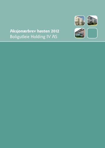 Boligutleie Holding IV AS - Obligo Investment Management