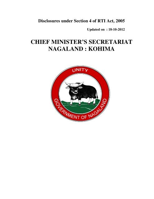chief minister's secretariat nagaland : kohima - Nagaland