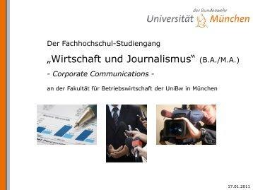 ?Wirtschaft und Journalismus? (B.A./M.A.) - bundeswehr-karriere