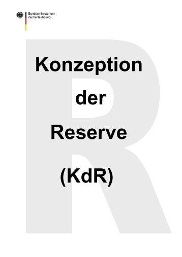 Konzeption der Reserve - Bundeswehr