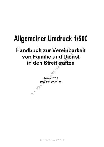 Handbuch zur Vereinbarkeit von Familie und Dienst