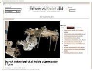 Dansk teknologi skal holde astronauter i form - Virksomheder