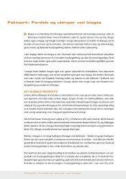 Faktaark: Fordele og ulemper ved biogas ∆