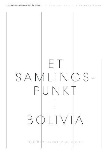 E T SAMLINGS- PUNKT I BOLIVIA - Elena Rojas