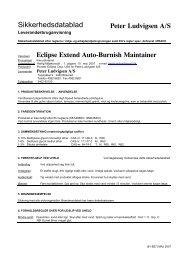 Extend Autoburnish Sikkerhedsdatablad - Peter Ludvigsen A/S