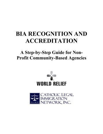 BIA RECOGNITION AND ACCREDITATION - NNAAC