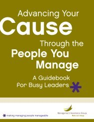 Advancing Your Cause Through the People You Manage - NNAAC