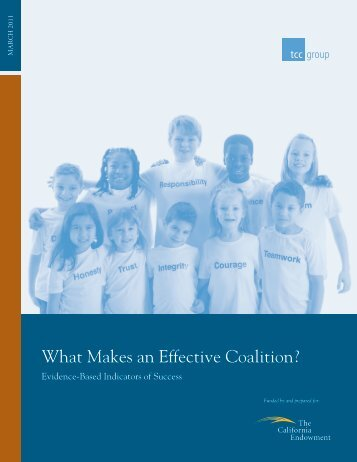 What Makes an Effective Coalition? - NNAAC