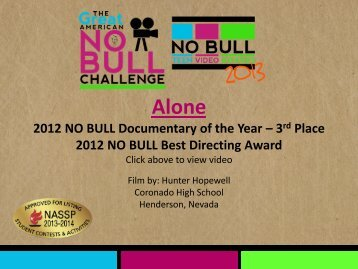 Alone - The Great American NO BULL Challenge