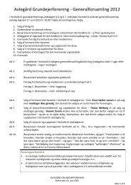 Avlegård Grundejerforening - Generalforsamling 2012
