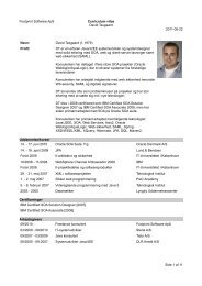 Footprint Software ApS Curriculum vitae David Taxgaard 2011-05 ...