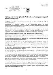 Høringssvar fra Nordjyllands Amt vedr. lovforslag ... - Miljøministeriet