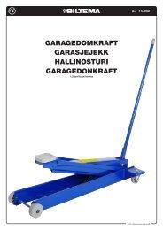 garagedomkraft garasjejekk hallinosturi garagedonkraft - Biltema
