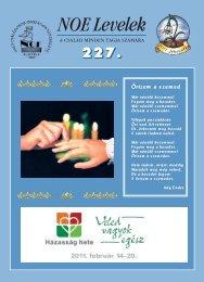 227. számú NOE Levél - Nagycsaládosok Országos Egyesülete
