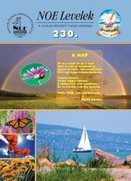230. számú NOE Levelek - Nagycsaládosok Országos Egyesülete