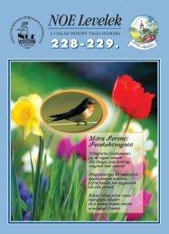 228-229. számú NOE Levél - Nagycsaládosok Országos Egyesülete