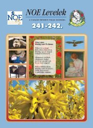 241-242. számú NOE Levelek - Nagycsaládosok Országos Egyesülete