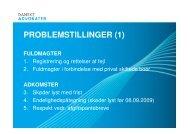 PROBLEMSTILLINGER (1) - Danske Advokater