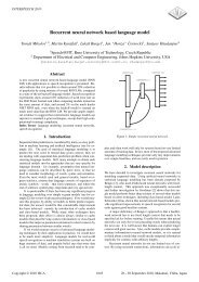 Recurrent Neural Network Based Language Model - Faculty of ...