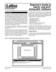 Beginner's Guide to ispLSI and pLSI Using pDS Software