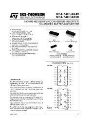 hc4050 hex buffer/converter hc4049 hex buffer/converter