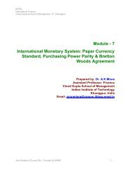 Module - 7 International Monetary System: Paper Currency ... - nptel