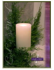 Our Lady of Hope Parish FIRST SUNDAY OF ADVENT December 2 ...