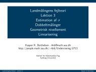 Landmålingens fejlteori Lektion 3 Estimation af σ Dobbeltmålinger ...