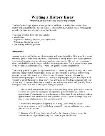 Writing history papers