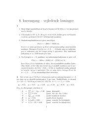 8. kursusgang – vejledende løsninger